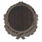 Trofeju dēlītis mežakuiļa ilkņiem, ozolkoka, 12 cm