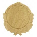 Trofeju dēlītis mežakuiļa ilkņiem, ozolkoka, 16 cm