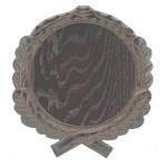 Trofeju dēlītis mežakuiļa ilkņiem, ozolkoka, 17.5 cm