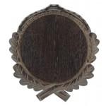 Trofeju dēlītis mežakuiļa ilkņiem, ozolkoka, 21 cm