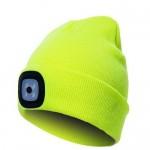Cepure ar LED dzeltena