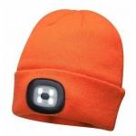 Cepure ar LED oranža